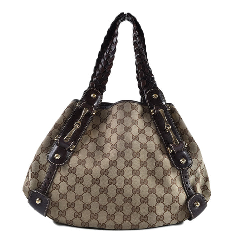 Gucci 162900 Phelham Brown Shoulder Bag