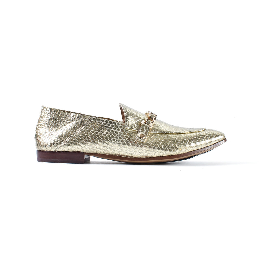 Karl Lagerfeld Paris Loafers in Light Gold Leather Size 9.5M