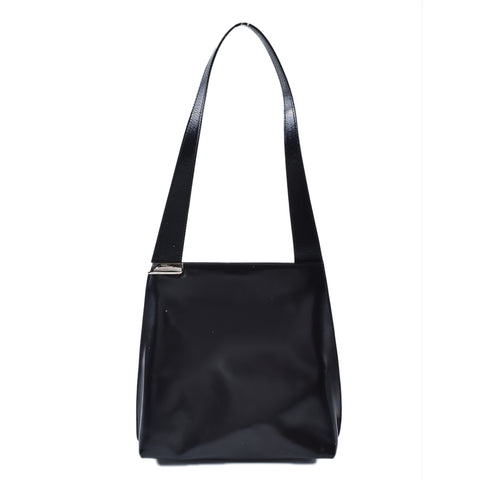 Furla Black Smooth Leather Shoulder Bag