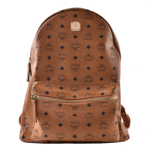 MCM Stark Backpack in Cognac Large Z6438