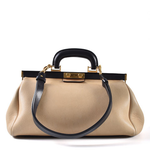 Marni Doctor Bag in Beige Leather