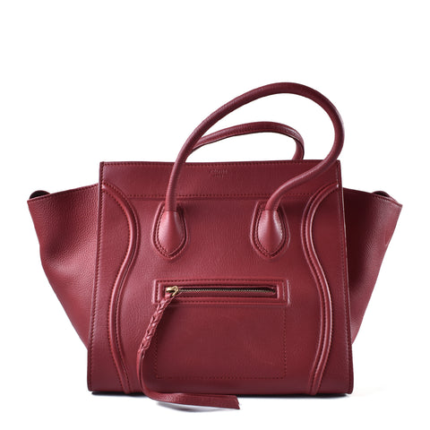 Céline Phantom in Red Smooth Calf Leather F-TB-0163 - Glampot