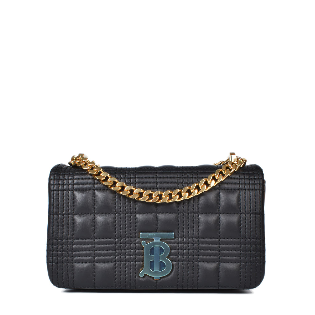 Burberry Black Mini Quilted Lambskin Lola Bag