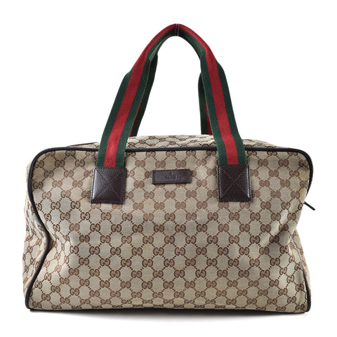 Gucci 153240 204046 Web GG Large Duffel Bag (PIG SKIN)