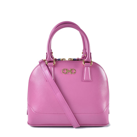 Salvatore Ferragamo Pink Saffiano Top Handle