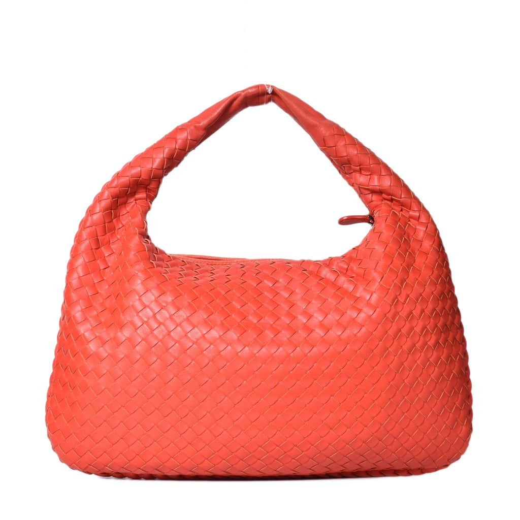 Bottega Veneta Brick Red Intrecciato Woven Nappa Leather Medium Hobo