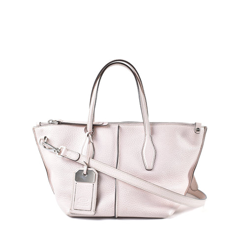 Tods Pink Leather Handbag
