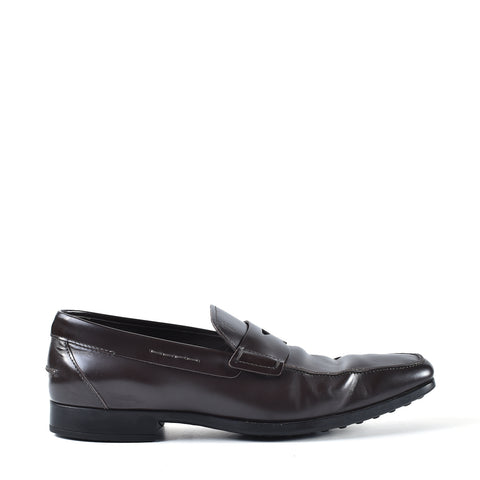 Tod's Dark Brown Leather Men Loafers - Size 8