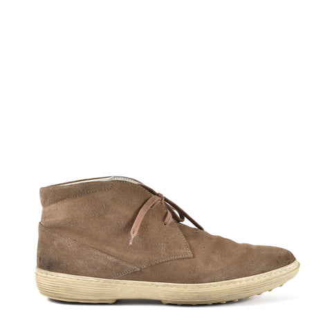 Tod's Polacco Peter Chukka Boot in Brown - Size 7.5