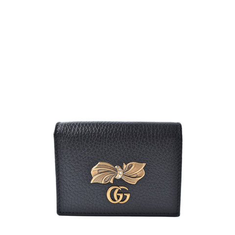Gucci Black Leather Short Wallet