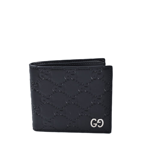Gucci 473916 Black Guccissima Signature Men's Wallet