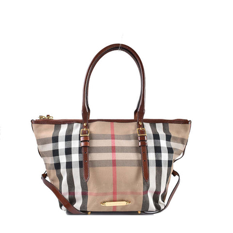 Burberry House Check Salisbury Tan Tote Bag