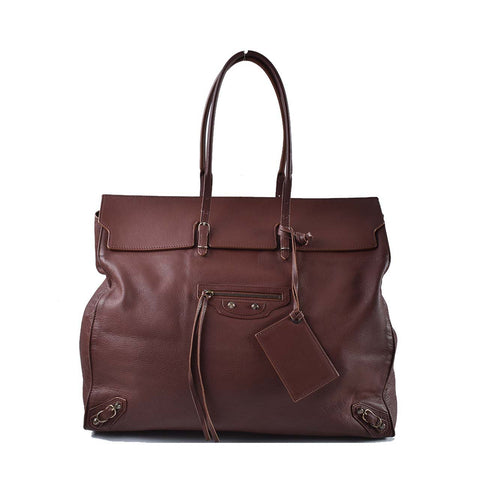 Balenciaga Papier Brown Tote Bag