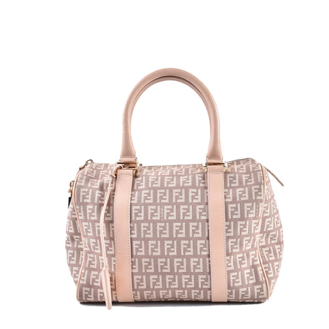 Fendi Pink Zucchino Boston Bag