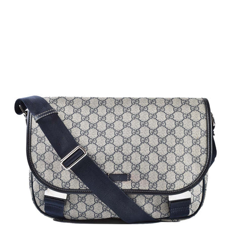Gucci 201732 GG Plus Coated Canvas Messenger