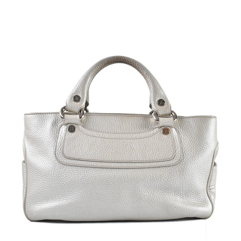 Celine Boogie Bag in White/ Pearl