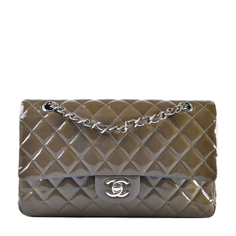 Chanel Medium Patent Bi-Colour Flap