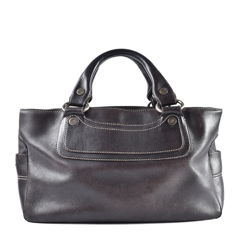 Celine Boogie Bag in Brown Leather
