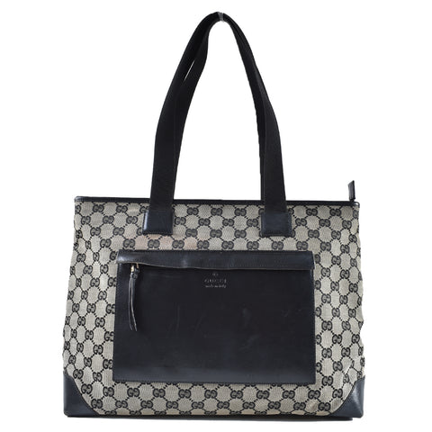5d82bb7bddf Gucci 019-0426 Vintage GG Canvas Tote with Front Zip Pocket