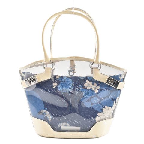 Salvatore Ferragamo Clear Tote With Floral Insert