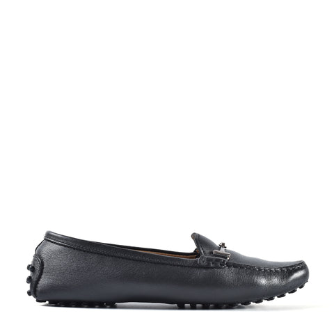 Tod's Women's Leather Loafers in Black Size 36