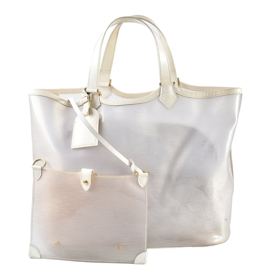 Louis Vuitton Epi White Transparent Tote