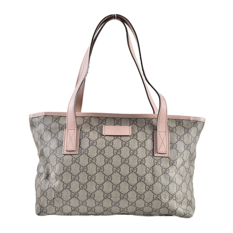 Gucci 181086 GG Supreme Tote in Baby Pink