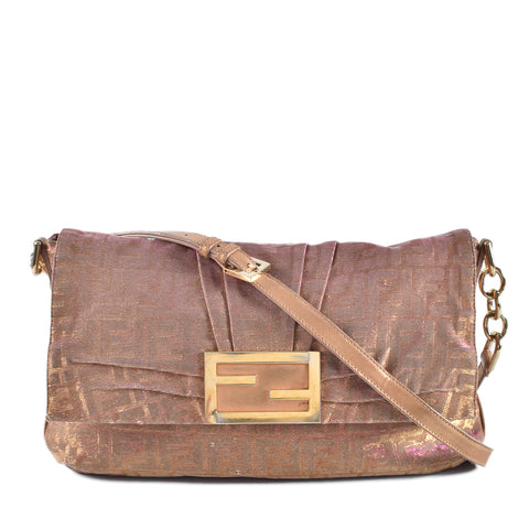 Fendi Zucca Shoulder Bag Pinkish