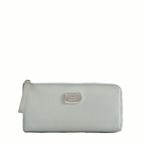 Tod's Zip Around Wallet in Light Pastel Blue