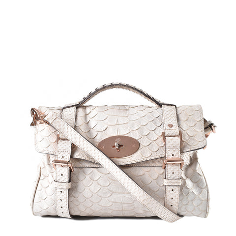 Mulberry Alexa Satchel Silky Snake Print Medium 5263327