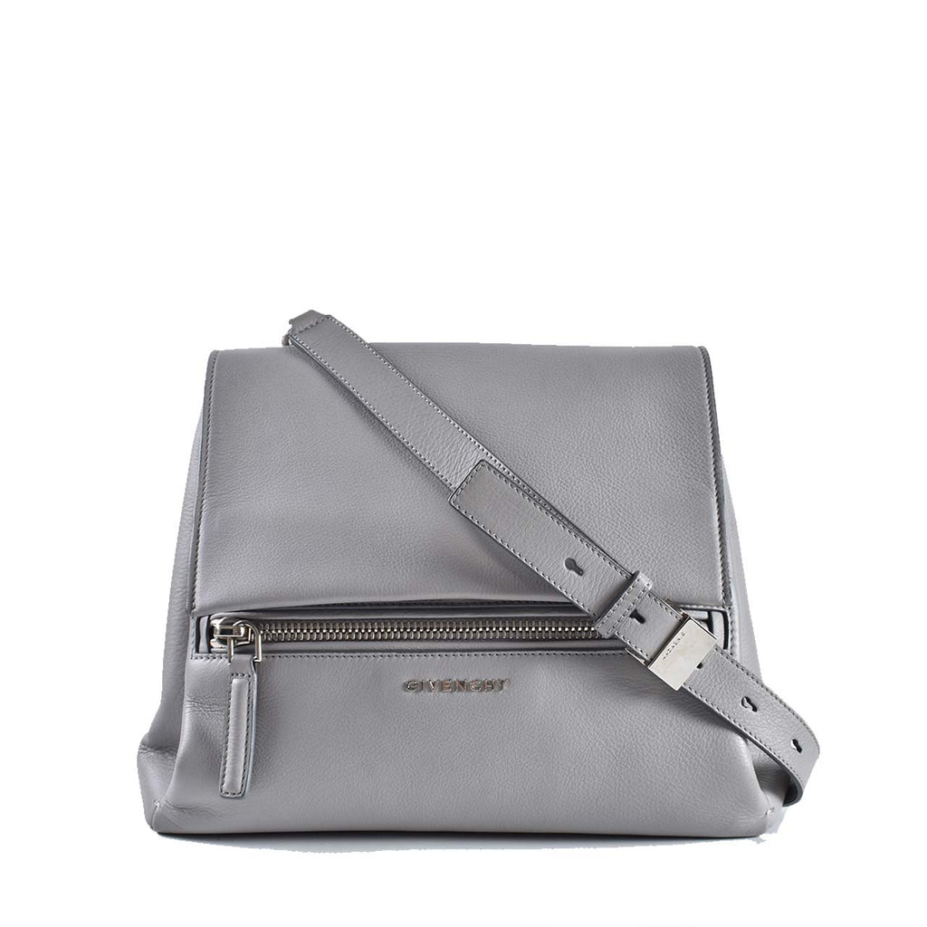 Givenchy Pandora Pure Calf Leather Gray Small Shoulder Bag SHW