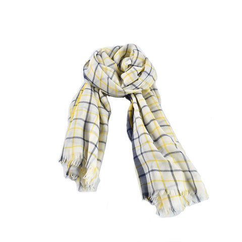 Hermes 100% Cashmere Yellow Check