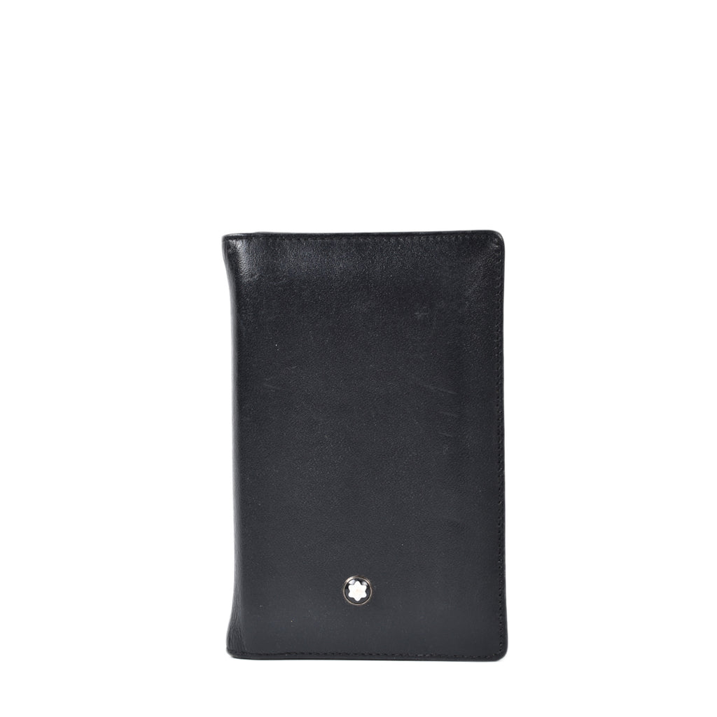 Mont Blanc Black Leather Card Holder