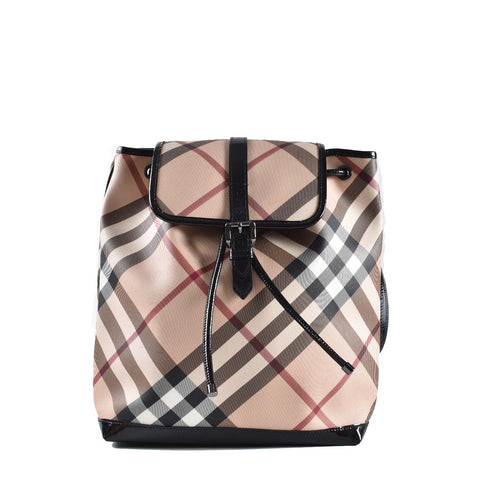 Burberry Nova Check Coated Canvas Backpack