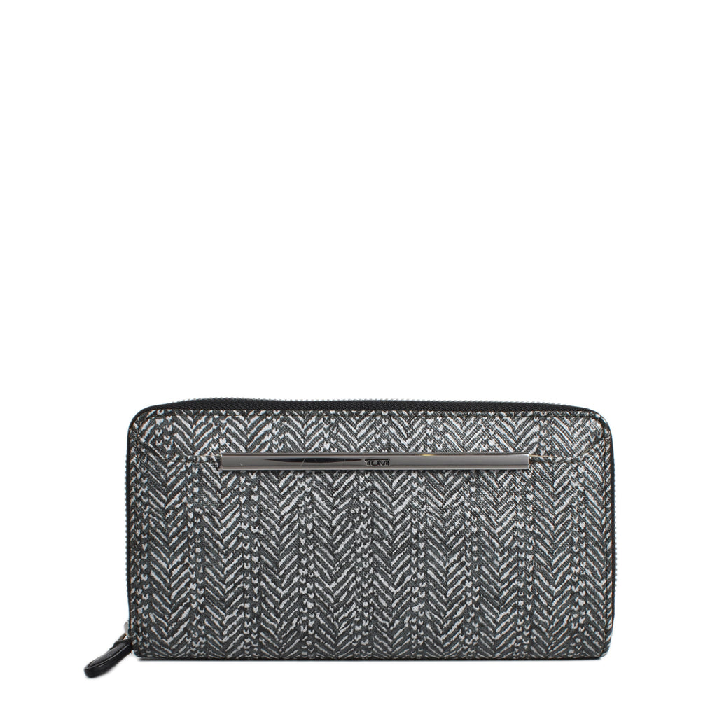 Tumi DFO Gallery Zip Around Continental Coated Canvas Wallet