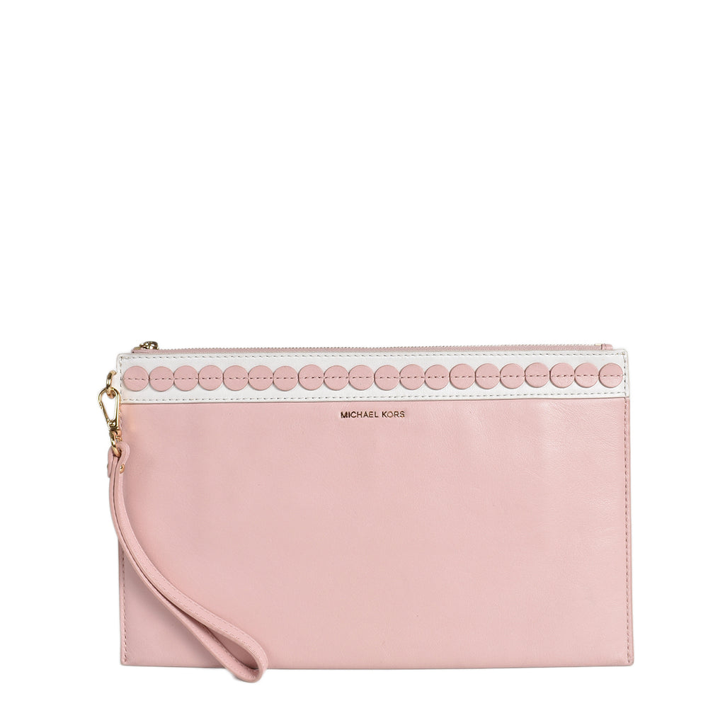 Michael Kors Blossom Pink Analise Clutch Bag