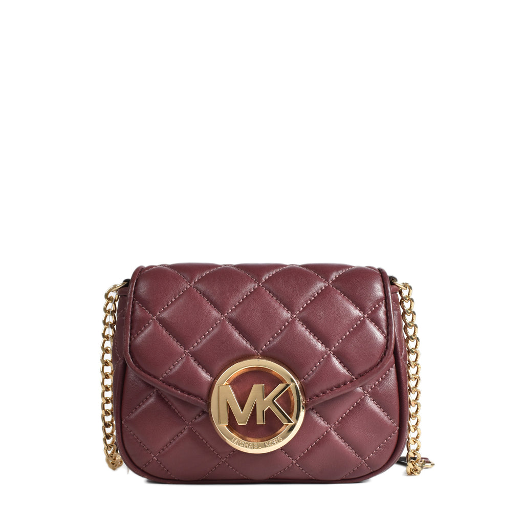 Michael Kors Fulton Quilt Small Flap in Merlot