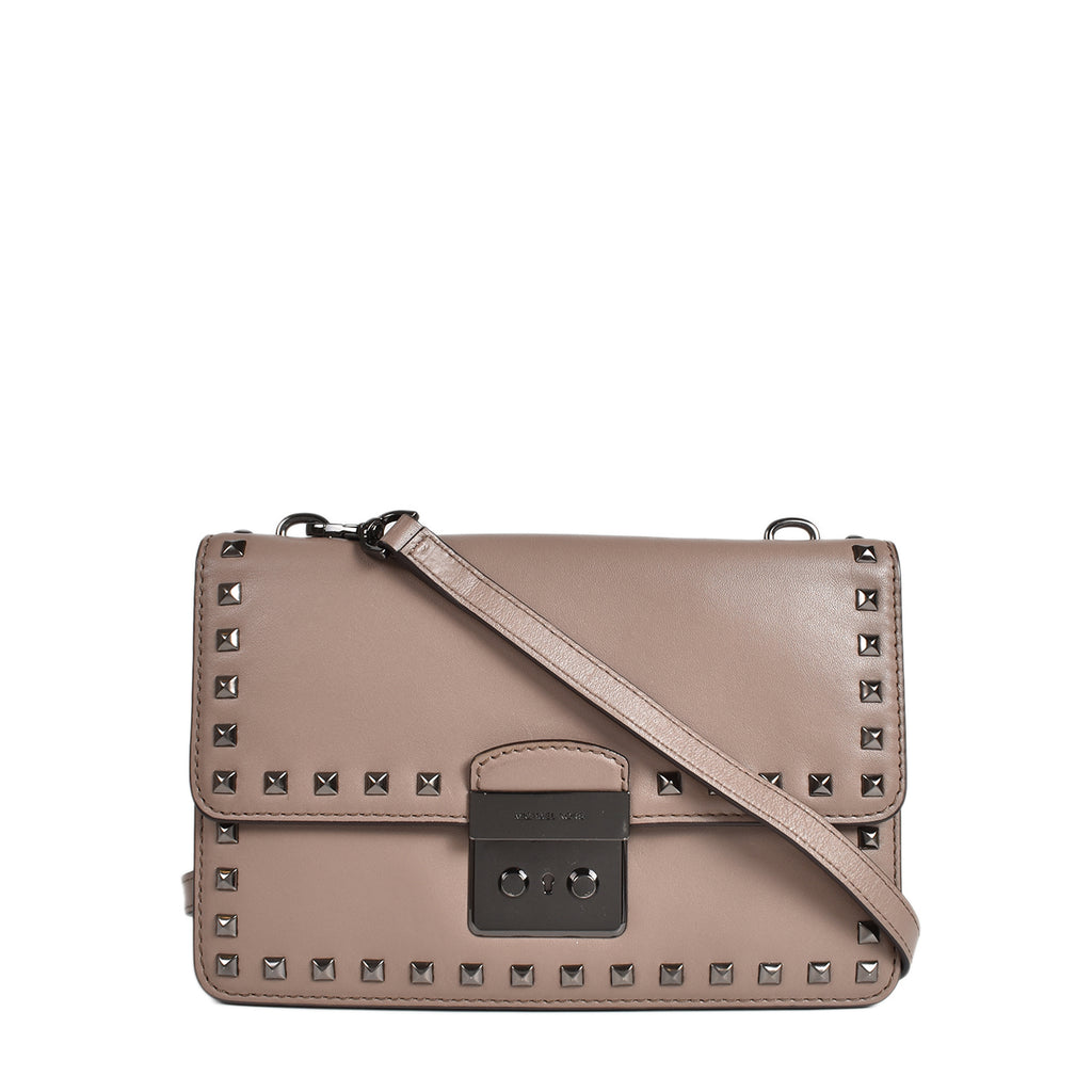 Michael Kors Sloan Studded Gusset Leather