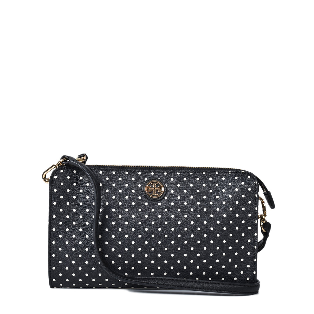 Tory Burch Kerrington Viva Dot Crossbody Bag in Black