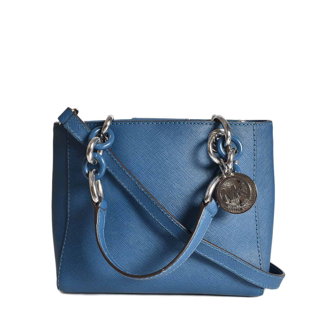 Michael Kors Blue Leather XS Satchel Bag