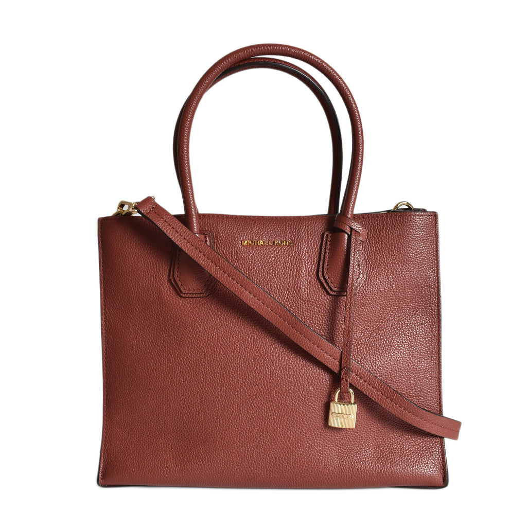 Michael Kors Plum Mercer Pebbled Leather Tote
