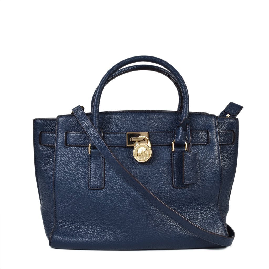 Michael Kors Hamilton Navy Traveler Satchel Bag