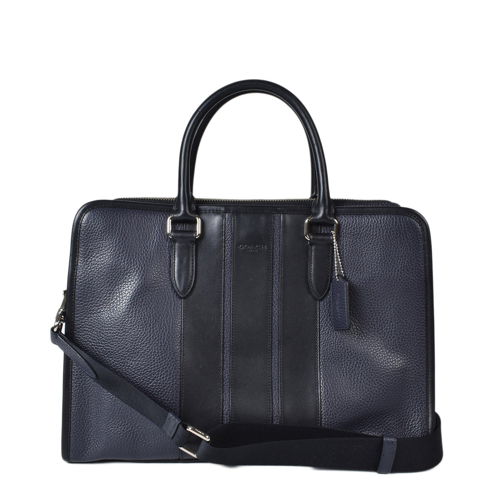 Coach Navy Men Briefcase Document Bag