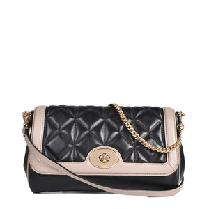 Coach Quilted Calf Black & Grey Leather Crossbody Bag