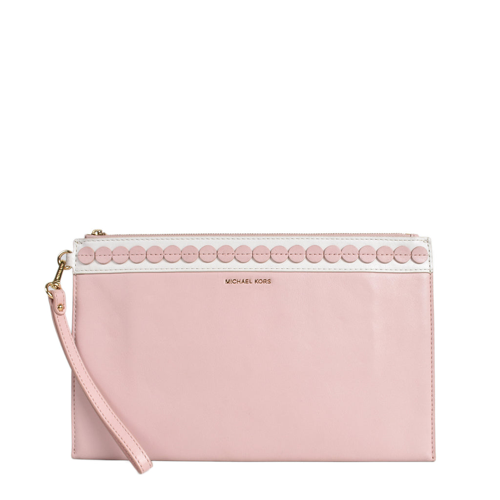 Michael Kors Blosson Pink Analise Clutch Bag