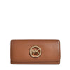 Michael Kors Fulton Brown Carryall Wallet