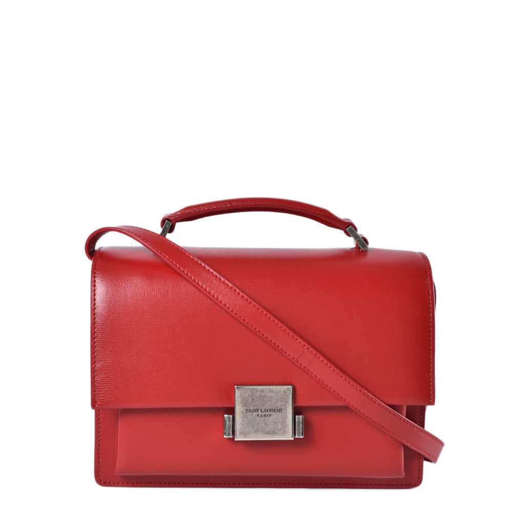 Yve Saint Laurent Medium Bellechasse Crossbody Bag in Red