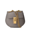 Chloe Classic Mini Drew Shoulder Bag in Small Grain Lambskin in Motty Grey 03-17-63-65