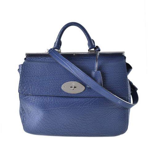 Mulberry Blue Grained Large 2-Way Satchel 2085586