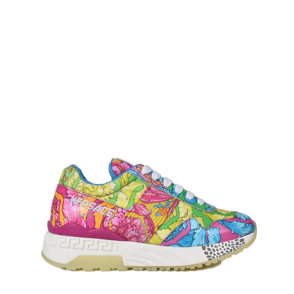 Versace Multicolor Baroque Print Chain Reaction Sneakers